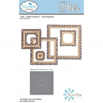 Elizabeth Craft Designs - Fitted Frames 2 Lace Squares - Stanze
