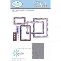 Elizabeth Craft Designs - Fitted Frames 3 Curvy Rectangle - Stanze