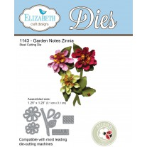 Elizabeth Craft Designs - Garden Notes - Zinnia - Stanzen