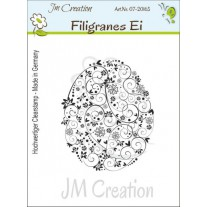 JM Creation - Filigranes Ei - Rubberstamp