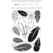 Create A Smile - Funky Feathers - Clear Stamps 4x6