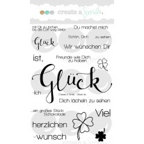 Create A Smile - Glück Ist - Clear Stamps 4x6