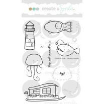 Create A Smile - Glowing Seaside - Clear Stamps 4x6