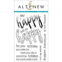 Altenew - Halftone Happy - Clear Stamps 4x6