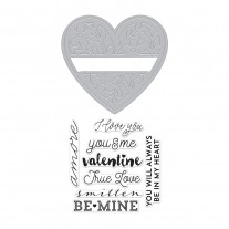 Hero Arts - Floral Heart - Stamp & Cuts
