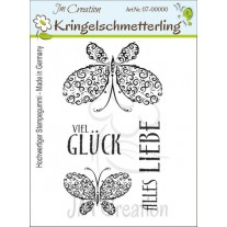 JM Creation - Kringelschmetterling - Rubberstamp