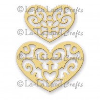 La-La Land Crafts - Filigree Hearts - Stanzen
