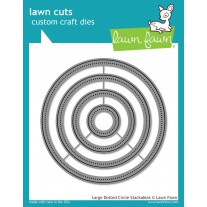 Lawn Fawn - Large Dotted Circle Stackables - Stanzen