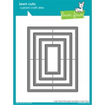 Lawn Fawn - Large Dotted Rectangle Stackables - Stanzen