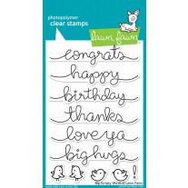 Lawn Fawn - Big Scripty Words - Clear Stamps 4x6