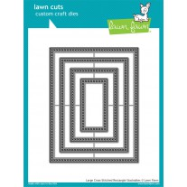 Lawn Fawn - Large Cross-Stitched Rectangle Stackables - Stanzen