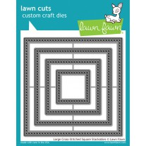Lawn Fawn - Large Cross-Stitched Square Stackables - Stanzen