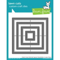 Lawn Fawn - Small Cross-Stitched Square Stackables - Stanzen