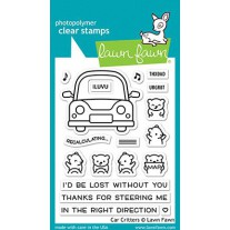 Lawn Fawn - car critters - Clear Stamp 3x4