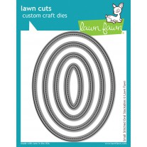 Lawn Fawn - Small Stitched Ovals - Stanzen