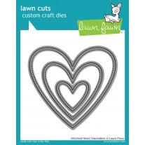 Lawn Fawn - Stitched Heart Stackables - Stanzen