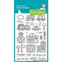 Lawn Fawn - village heroes - Clear Stamp 4x6