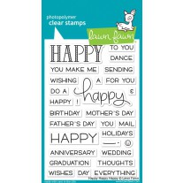 Lawn Fawn - Happy Happy Happy - Clear Stamps 4x6
