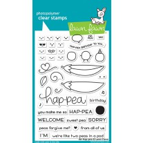 Lawn Fawn - Be Hap-pea - Clear Stamp 4x6