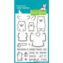 Lawn Fawn - snow much fun - Clear Stamp 4x6