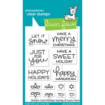 Lawn Fawn - shutter card holiday sayings - Clear Stamp 3x4