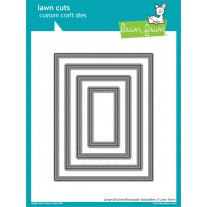 Lawn Fawn - Large Stitched Rectangle Stackables - Stanzen