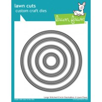 Lawn Fawn - Large Stitched Circle Stackables - Stanzen