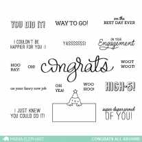 Mama Elephant - Congrats All Around - Clear Stamps 4x6