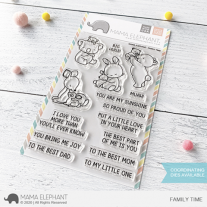Mama Elephant - Family Time - Clear Stamp 4x6