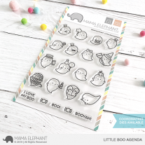 Mama Elephant - Little Boo Agenda - Clear Stamp 4x6