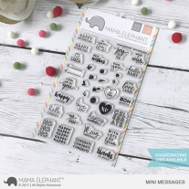 Mama Elephant - Mini Messages - Clear Stamp 4x6