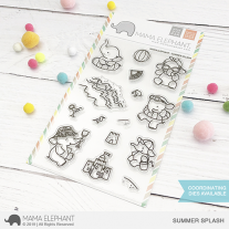 Mama Elephant - Summer Splash - Clear Stamp 4x6