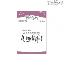 ModaScrap - Wonderful - Clear Stamps