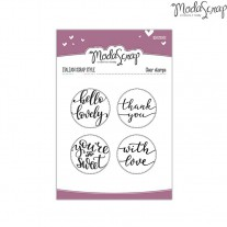 ModaScrap - Hello Lovely - Clear Stamps