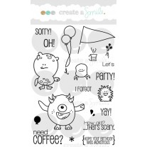 Create A Smile - Monster Party - Clear Stamps 4x6