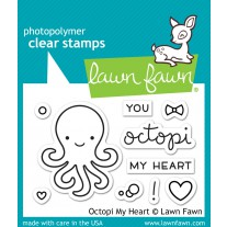 Lawn Fawn - Octopi My Heart - Clear Stamps 2x3