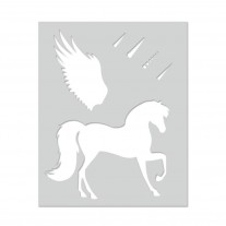 Hero Arts - Schablone - Winged Pegasus