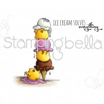 Stamping Bella - Chicks With A Sprinkle On Top - Rubberstamp