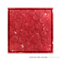 Studio Katia - Sequin Fusion - Lipstick Red