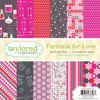 "Taylored Expressions Paper Pack 6x6"" 24/Pkg - Formula For Love"