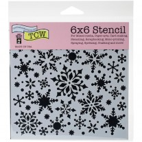 The Crafters Workshop - Schablone 6x6 - Snowflakes