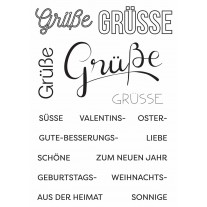 Create A Smile - Viele Grüsse - Clear Stamps 4x6