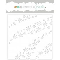 Create A Smile - Schablone - Wave Of Snowflakes