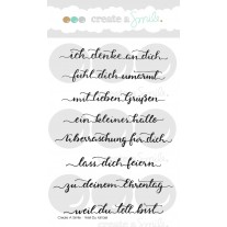 Create A Smile - Weil Du Toll Bist - Clear Stamps 4x6