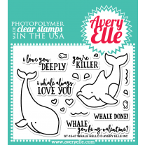 Avery Elle - Whale Hello - Clear Stamps 3x4