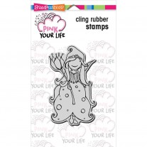 Stampendous! Pink Your Live - Whisper Princess - Rubberstamp 4x6