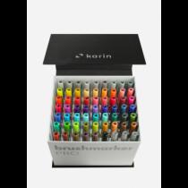 Karin - BrushmarkerPRO | Mega-Box - 60 Farben Brushmarker PRO + Blender (3 Stück)
