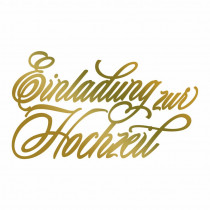 Couture Creations Hotfoil Stamp - Einladung zur Hochzeit