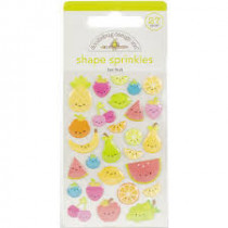 Doodlebug Sticker Shape Sprinkles Fun Fruit