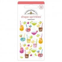 Doodlebug Sticker Shape Sprinkles Tropical Punch
